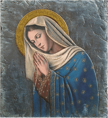 Madonna of the Rosary Marco Sevelli Tile Plaque by Sacred Traditions