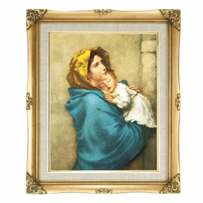 Madonna on the Streets Linen Print w/Gold Frame by Cromo NB