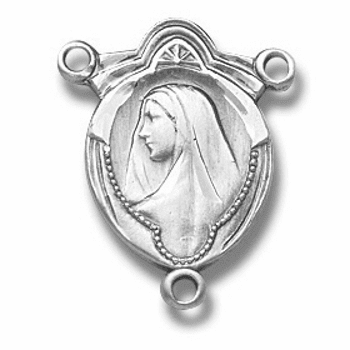 Madonna Sterling Silver Centerpiece Rosary Part by HMH Religious