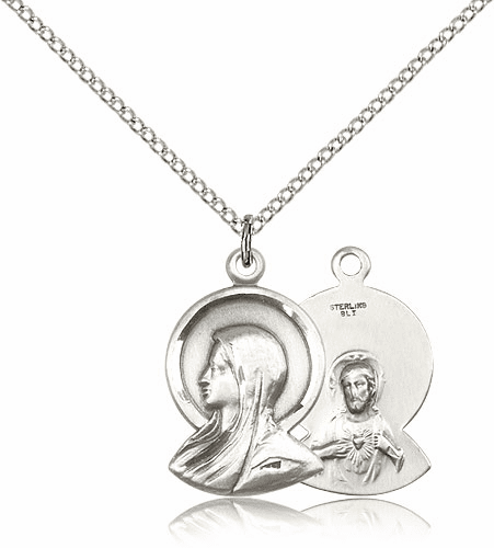 Madonna Sterling Silver Pendant Necklace by Bliss