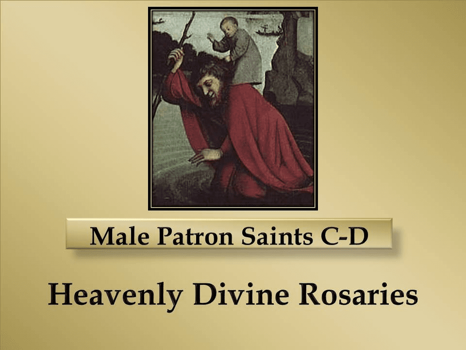 Male Patron Saint Gifts C-D