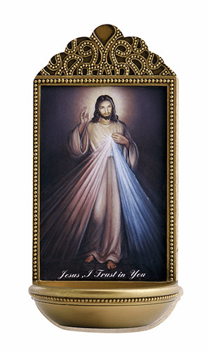 "Marco Sevelli Tile Divine Mercy 6"" Holy Water Font"
