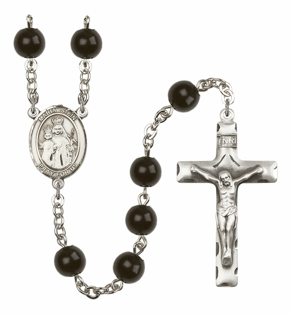 Maria Stein 7mm Black Onyx  Prayer Rosary by Bliss