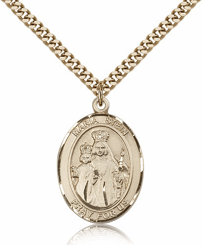 Maria Stein Gold Filled Patron Saint Medal