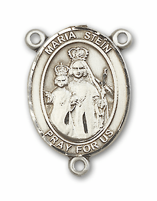 Maria Stein Sterling Silver Saint Rosary Center by Bliss