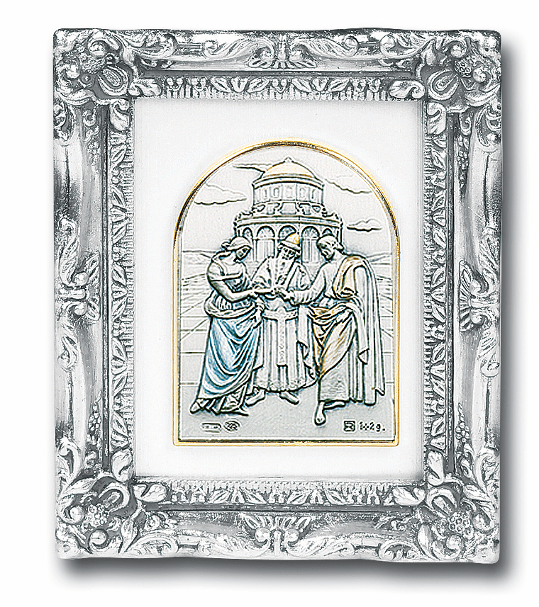 Marriage/Wedding Sterling Silver Image w/Antique Silver Frame Picture by Salerni