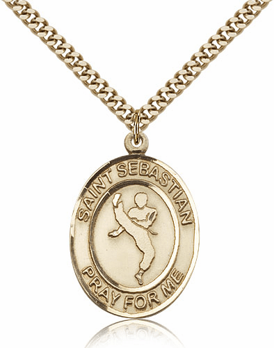 Martial Arts St Sebastian Karate 14kt Gold-Filled Saint Medal by Bliss