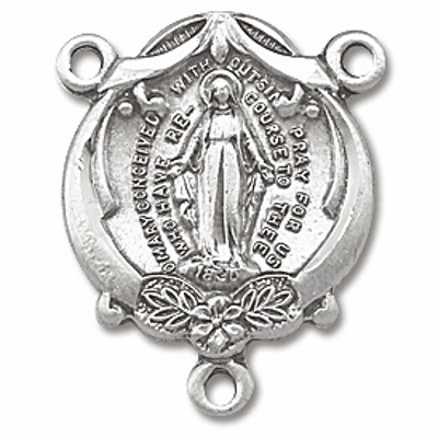 Mary Conceived Without Sin Miraculous Medal Centerpiece Rosary Part by HMH Religious
