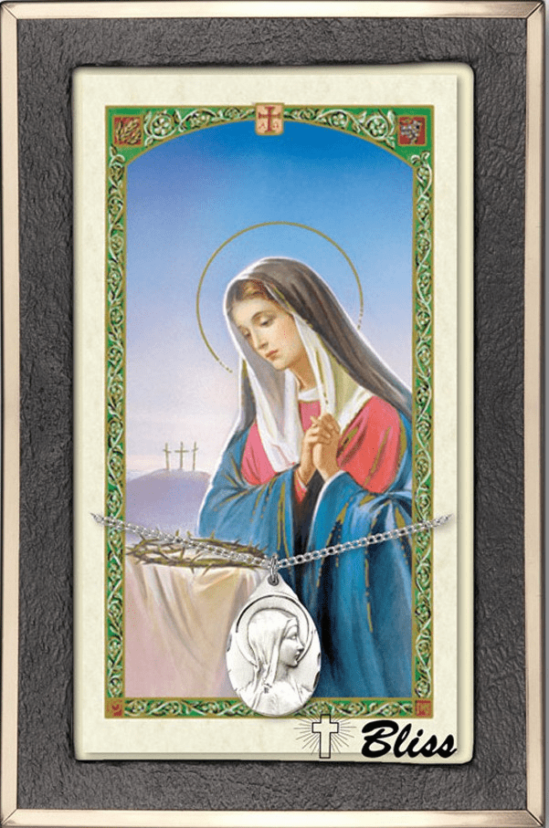 Mary Prayer and Card Necklace Gift Sets