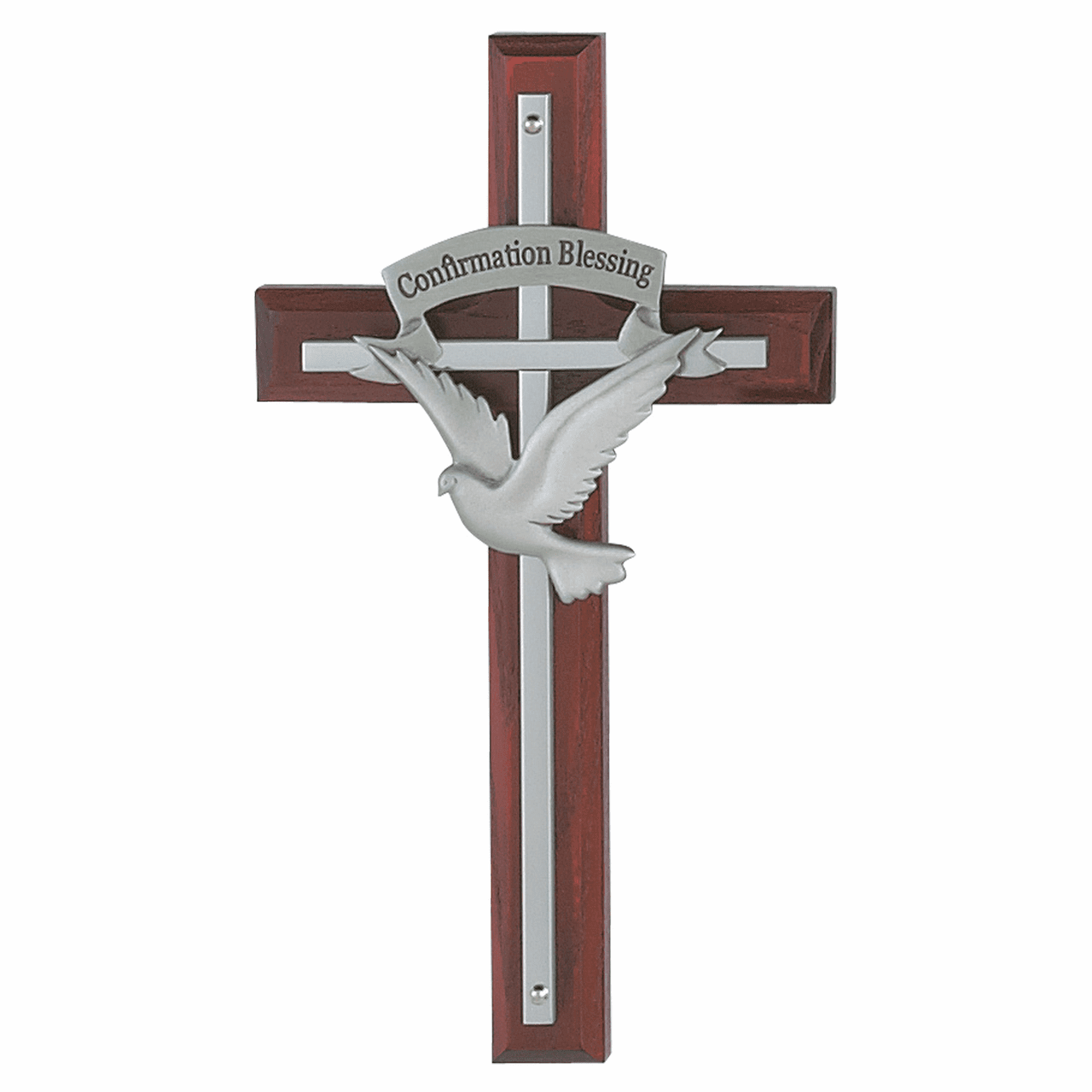 McVan Dove Holy Spirit Cherry Stained Wall Cross