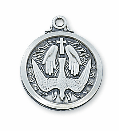 McVan Sterling Silver Holy Spirit Pendant Necklace with Chain