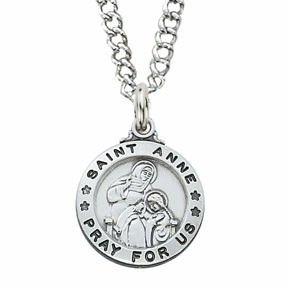 McVan Sterling Silver St Anne Pendant Necklace with Chain
