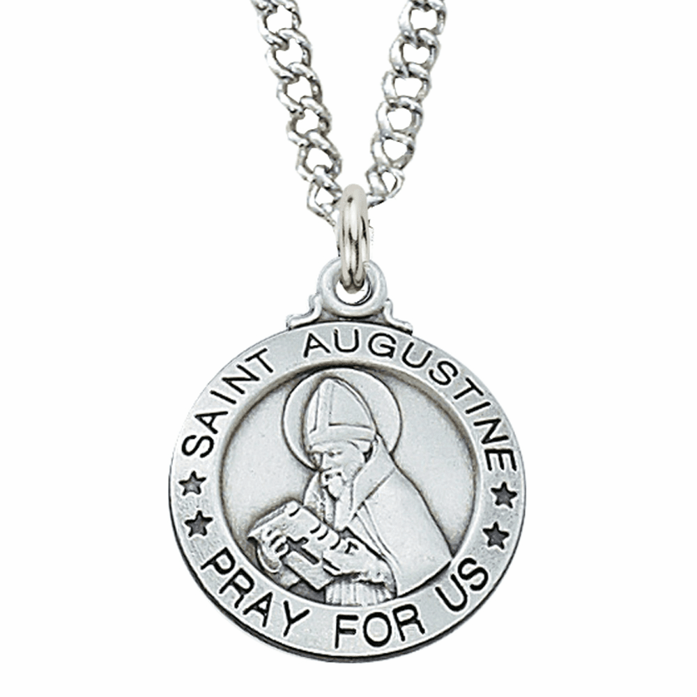 McVan Sterling Silver St Augustine Pendant Necklace with Chain