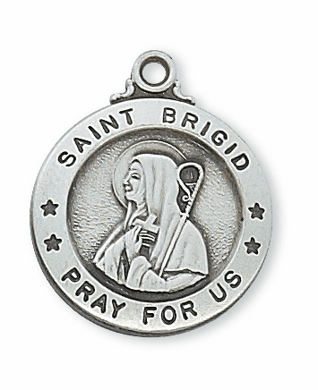 McVan Sterling Silver St Brigid Pendant Necklace with Chain