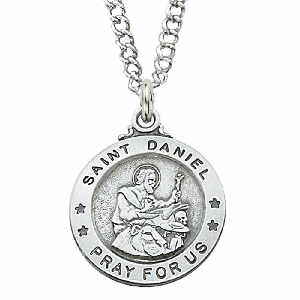 McVan Sterling Silver St Daniel Pendant Necklace with Chain