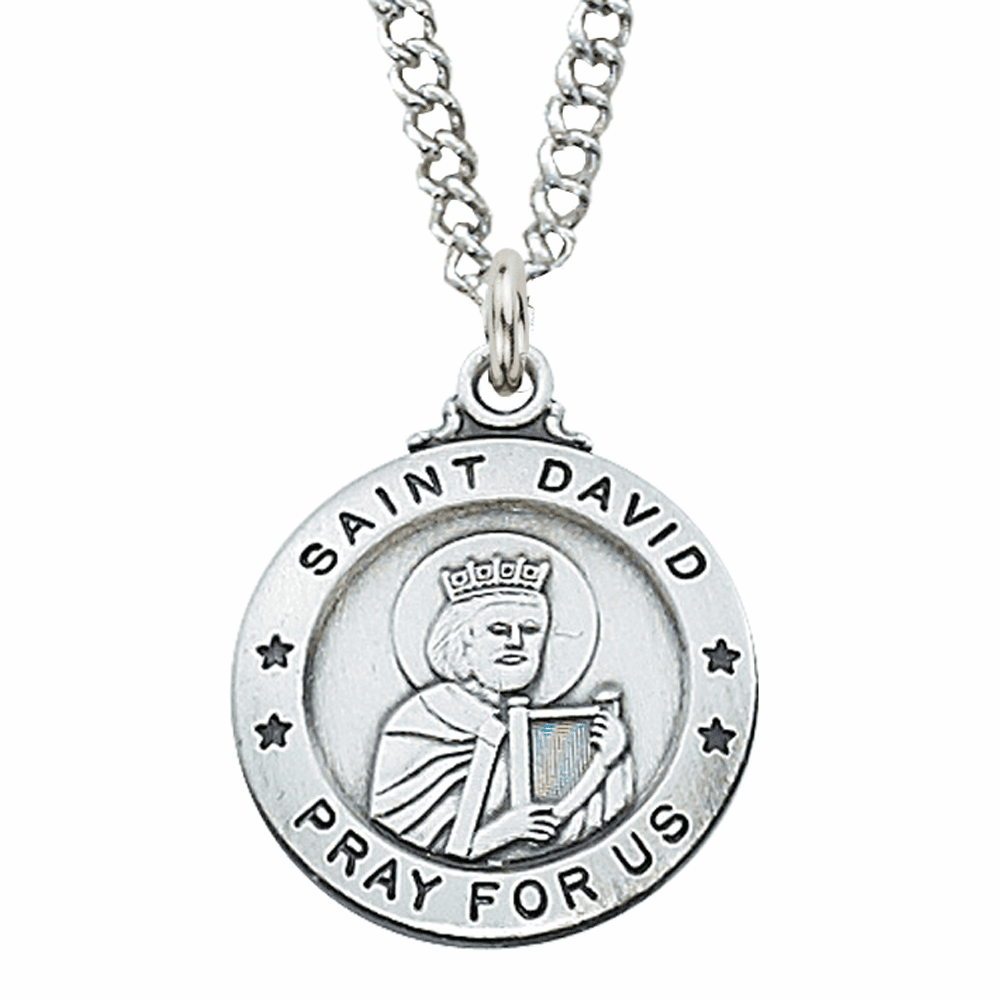 McVan Sterling Silver St David Pendant Necklace with Chain