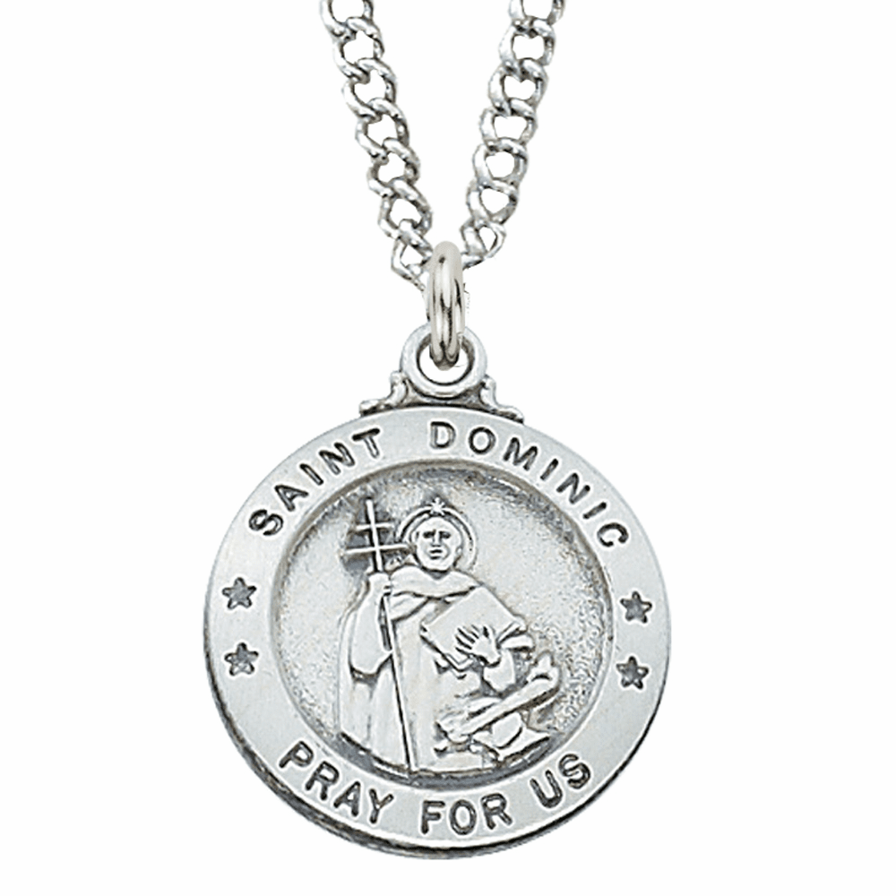 McVan Sterling Silver St Dominic Pendant Necklace with Chain