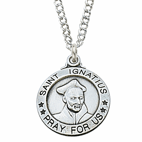 McVan Sterling Silver St Ignatius Pendant Necklace with Chain