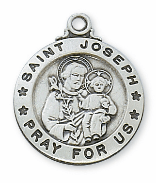 McVan Sterling Silver St Joseph Pendant Necklace with Chain