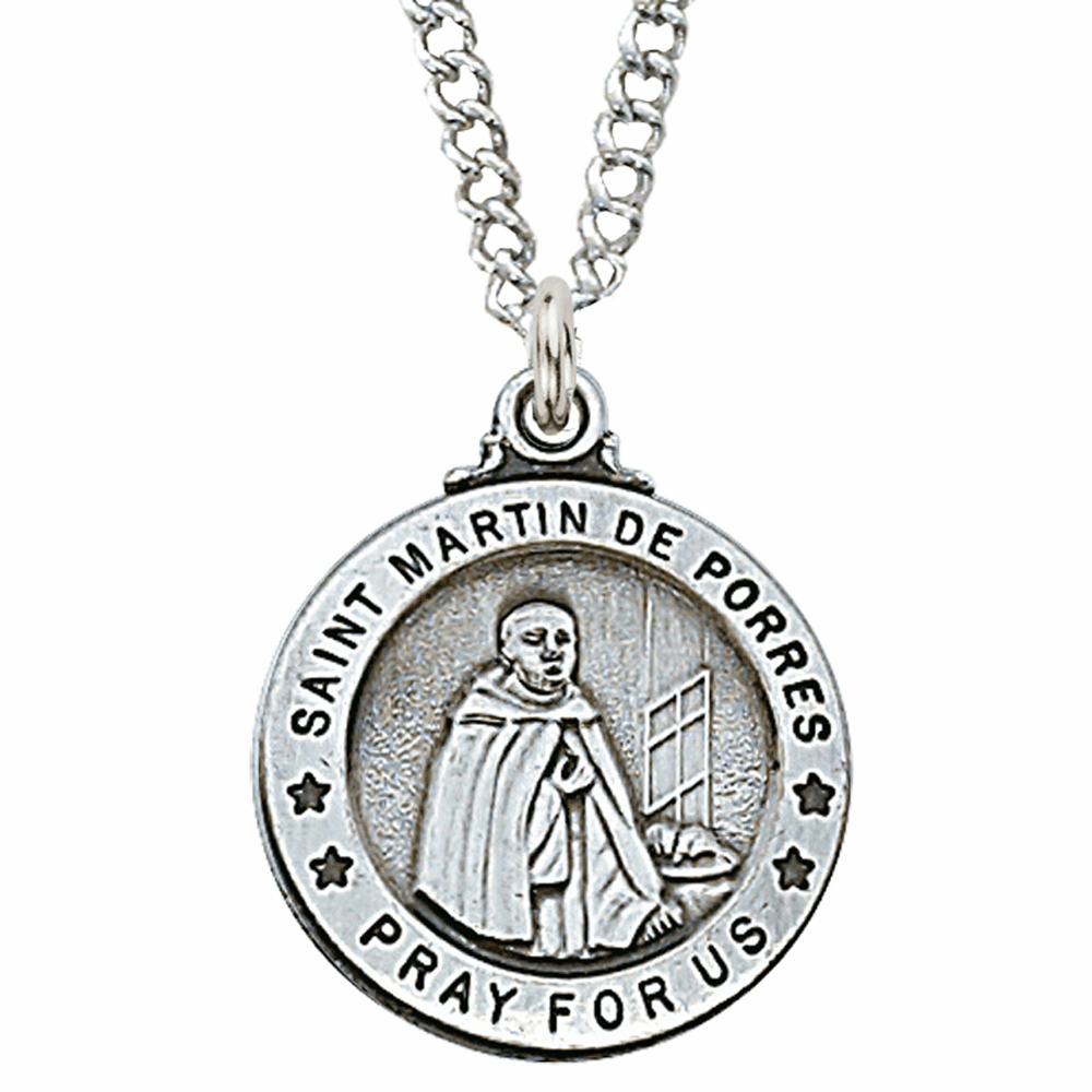McVan Sterling Silver St Martin De Porres Pendant Necklace with Chain