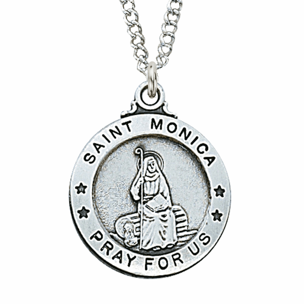 McVan Sterling Silver St Monica Pendant Necklace with Chain
