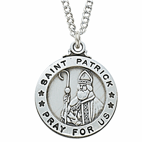McVan Sterling Silver St Patrick Pendant Necklace with Chain