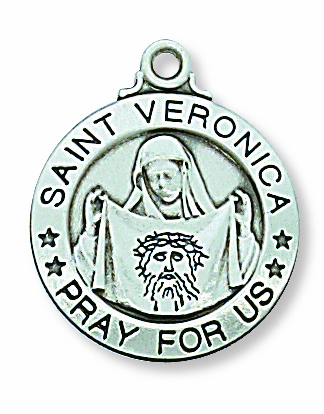 McVan Sterling Silver St Veronica Pendant Necklace with Chain