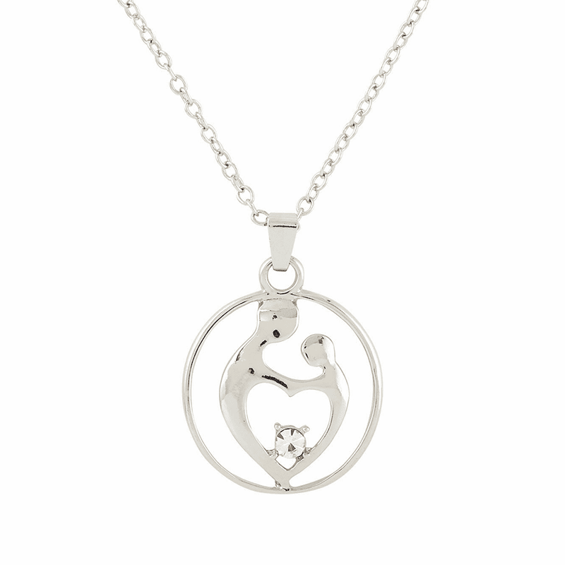 Memorial I Carry You With Me Mother with Child Necklace