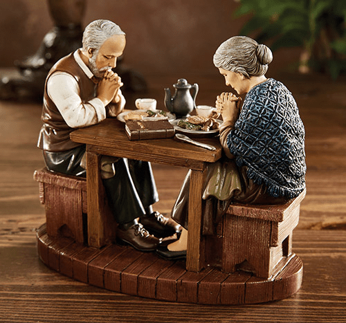 Michael Adams Millet's The Angelus and Grace Thanksgiving Figurine