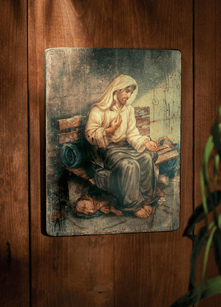 Michael Adams No Place to Rest Homeless Jesus Marco Sevelli Wall Plaque