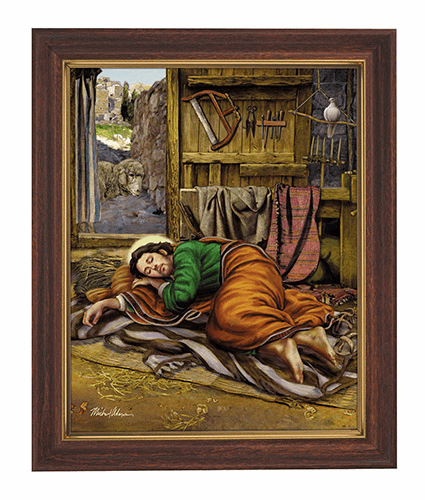 Michael Adams Sleeping Saint Joseph 10x12.5 Framed Print by Gerffert