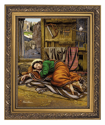 "Michael Adams Sleeping Saint Joseph 11x13"" Framed Print by Gerffert"
