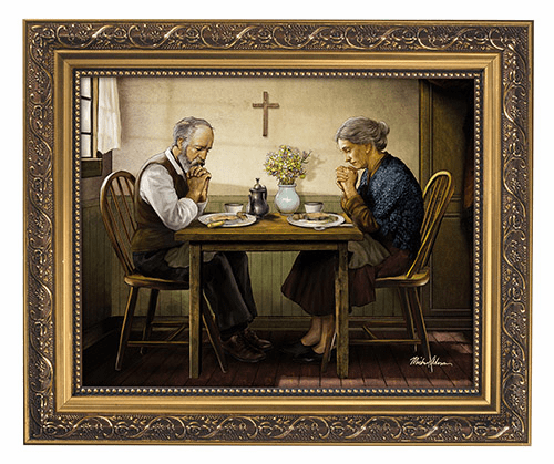 Michael Adams The Angelus and Grace Thanksgiving Framed Print Picture