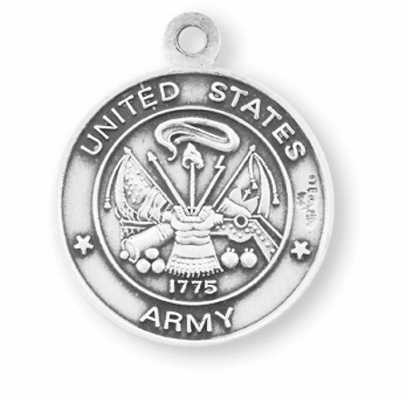 Military St Christopher Army Sterling Necklace by HMH Religious