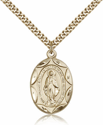 Miraculous 14kt Gold-Filled Pendant Necklace with Chain by Bliss