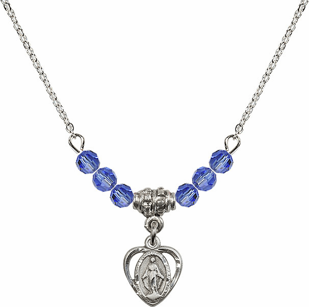Miraculous Heart Charm with 6 Crystal Bead Necklace by Bliss Mfg