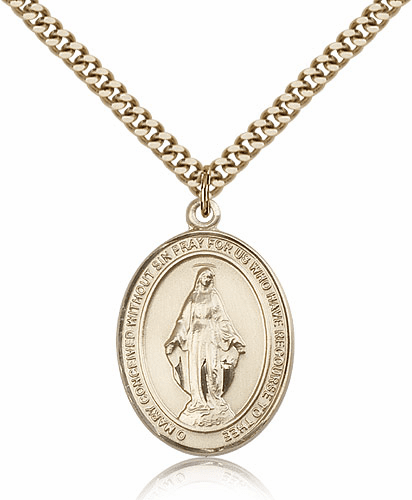 Miraculous Medal 14kt Gold Filled Necklace by Bliss