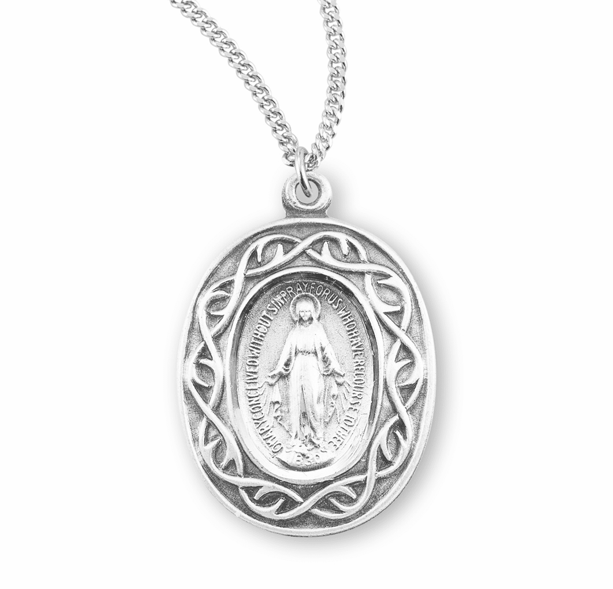 Miraculous Medal Crown of Thorns Necklace by HMH Religious