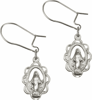 Miraculous Medal Earrings and Rings
