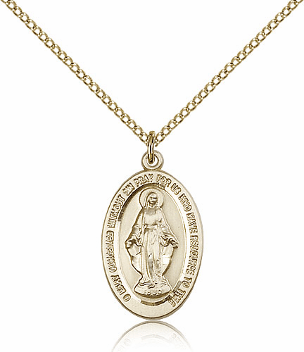 Miraculous Medal Gold-filled Patron Saint Catholic Necklace by Bliss