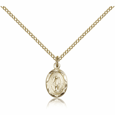 Bliss Mfg Infant/Baby Miraculous Medal Gold Filled Medal Pendant