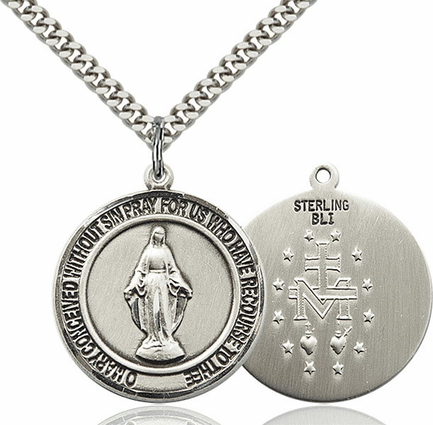 Miraculous Medal Round Necklace by Bliss