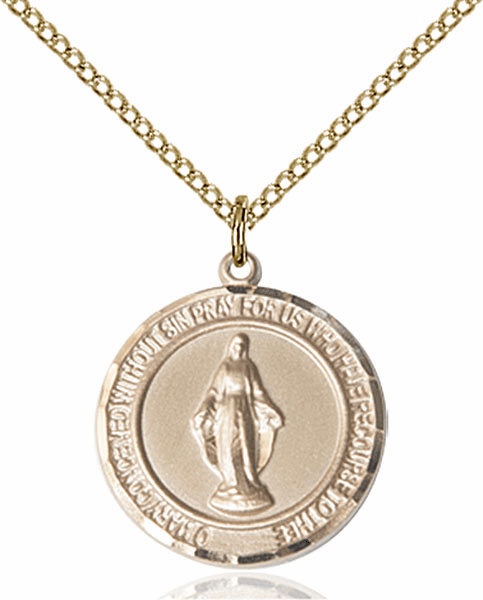 Miraculous Medium Patron Saint 14kt Gold-filled Medal by Bliss