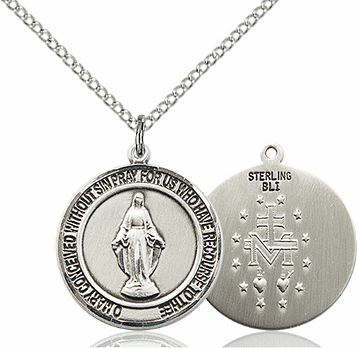 Miraculous Medium Patron Saint Sterling Silver Medal by Bliss