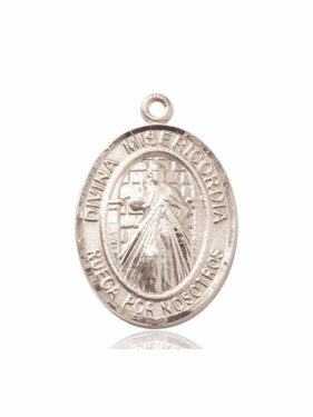 Bliss Spanish Divina Misericordia & St Maria Faustina 14kt Gold Medal