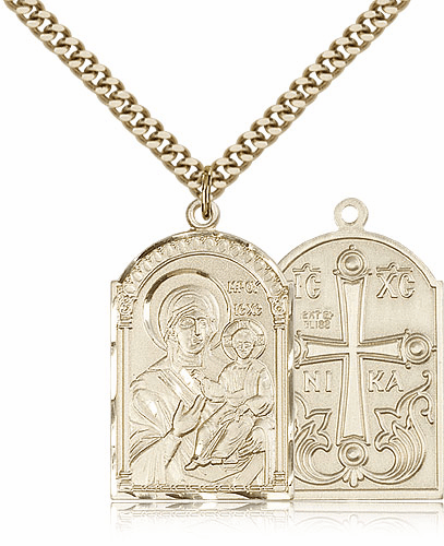 Mother of God 14kt Gold-Filled Pendant Necklace by Bliss