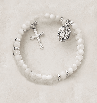Mother of Pearl Wrap-Around 5 Decade Rosary Bracelet by Creed