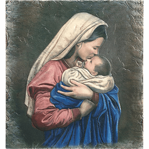 Mother's Kiss Marco Sevelli Plaque by Sacred Traditions