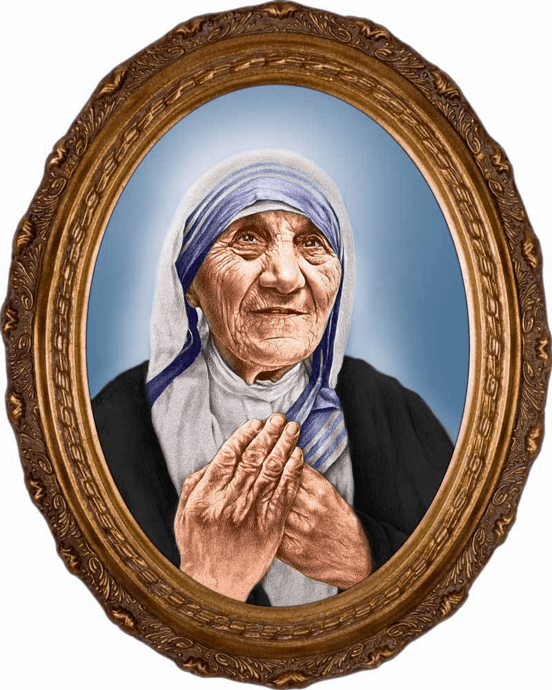 Mother Teresa of Calcutta Canonization Portrait Canvas Picture