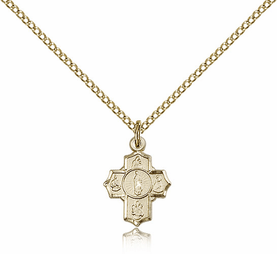 Motherhood 5-Way Cross Medal Necklace by Bliss Manufacturing